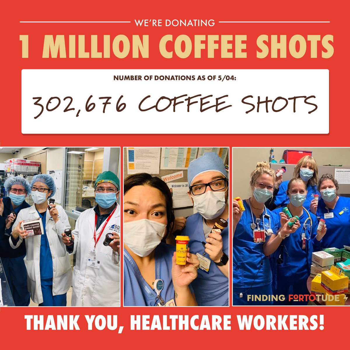 With the help of our co-owner, @SHAQ - we are committed to donating 1 million coffee shots to healthcare professionals and first responders. Visit the link in our bio to learn more about how you or your organization can help us fuel healthcare workers on the frontline