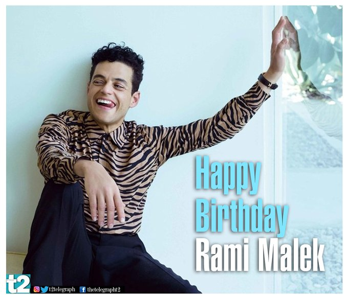 \Mercury\ rising! t2 wishes Rami Malek a very happy birthday. We can\t wait to watch him as the villain in Bond 25!