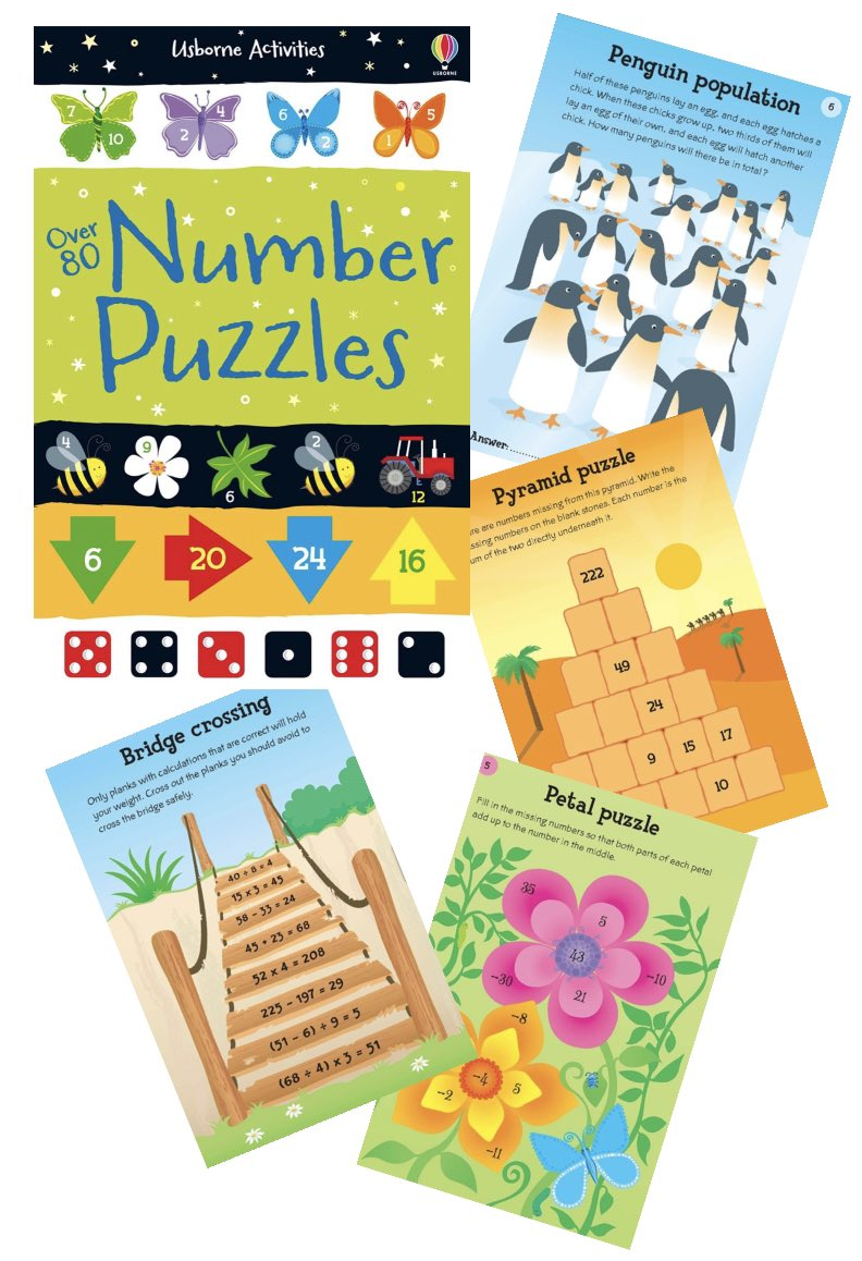 A pocket-sized book packed full of intriguing number puzzles and games. Perfect for long journeys or quiet times. https://bit.ly/3bmHJpdwith  delivery direct to your door   #UsborneMaths #UsborneMathsBooks #NumberPuzzles #Over80NumberPuzzles #UsborneActivities #UsborneMathsActivitiespic.twitter.com/aUzk1Z9R1L