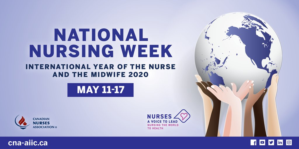 This week is #NationalNursingWeek in Canada! Thank you to all the nurses who are working tirelessly during COVID-19 to care for the physical and mental health of our communities. For more information, visit: https://t.co/cR8d7yOa6E #BellLetsTalk https://t.co/VfXkswazyN