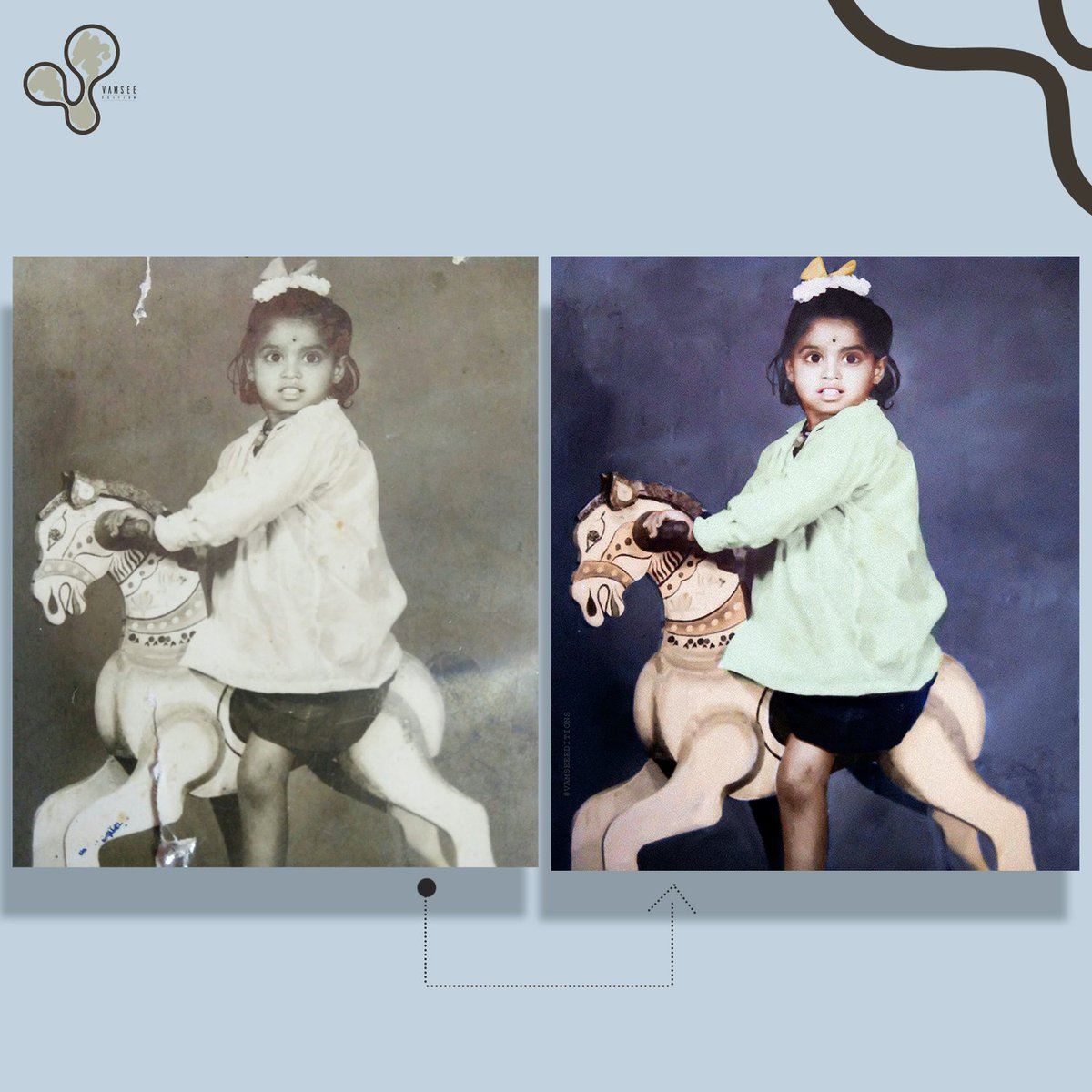 Old Photo is just  not  a pieace of paper. It's a Memory and it can Recreate now . in colour . . . . . . . . #photoretouch #oldphoto  #oldphotorestoration  #oldphotography #adobephotoshopcc #vamseeeditionpic.twitter.com/91VoT8LS9J