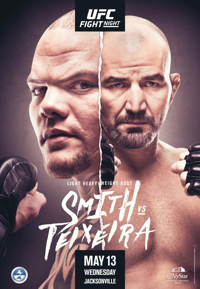 Who ya got?  ➡️ IT'S FIGHT WEEK - @LionheartASmith vs @GloverTeixeira at #UFCJAX https://t.co/cCtmurTPYE