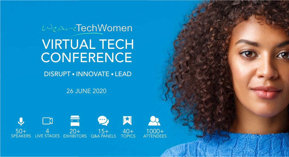 Our June #VirtualTechConference in numbers 4 stages Over 15 Q&A panels Over 20 exhibitors Over 30 topics Over 50 speakers Over 1000 attendees And 30 days to watch all the sessions after the event This will be a learning experience like no other! buff.ly/2Yc2AF