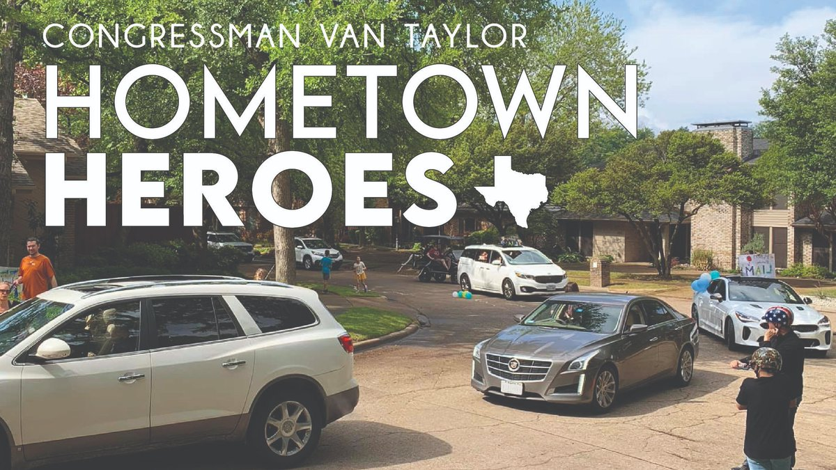Help me recognize #TX03 #HometownHeroes who are tirelessly working to help their neighbors! Share with me the story of someone in Collin County selflessly helping others during this time at vantaylor.house.gov/heroes.