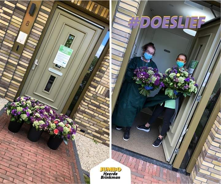 Wat een betrokkenheid ook vanuit de ondernemers @gem_Heerde voor onze bewoners @Viattence vandaag. Weer een bloemenzee bij Hofje Wendakker. #hartelijkdank https://t.co/ITt23bGFq7