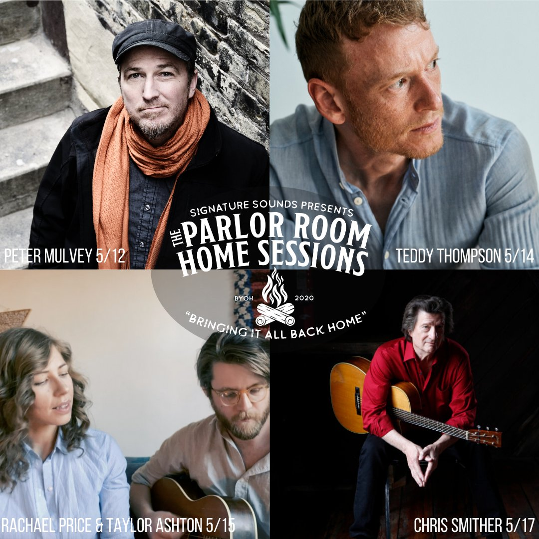 We're bringing it all back home with a stellar line up of Home Sessions performances this week.  5/12 - @PeterMulvey43  5/14 - @teddythompson  5/15 - Rachael Price & @Taylrashtn  5/17 - @ChrisSmither_  Tune in at https://t.co/lF1455BVTL 🏡 https://t.co/PDBvSPUS1z