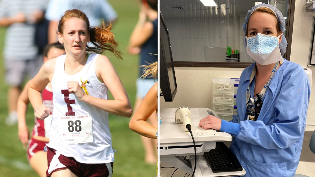 We continue our #FrontlineRams series today with former @fordhamtrack Ram Siobhan Cooney as we recognize former student-athletes who are now on the front line of the COVID-19 battle. Thank you for all you do Siobhan!  https://t.co/DXSuTk0lJJ https://t.co/KUr1UUtb3s