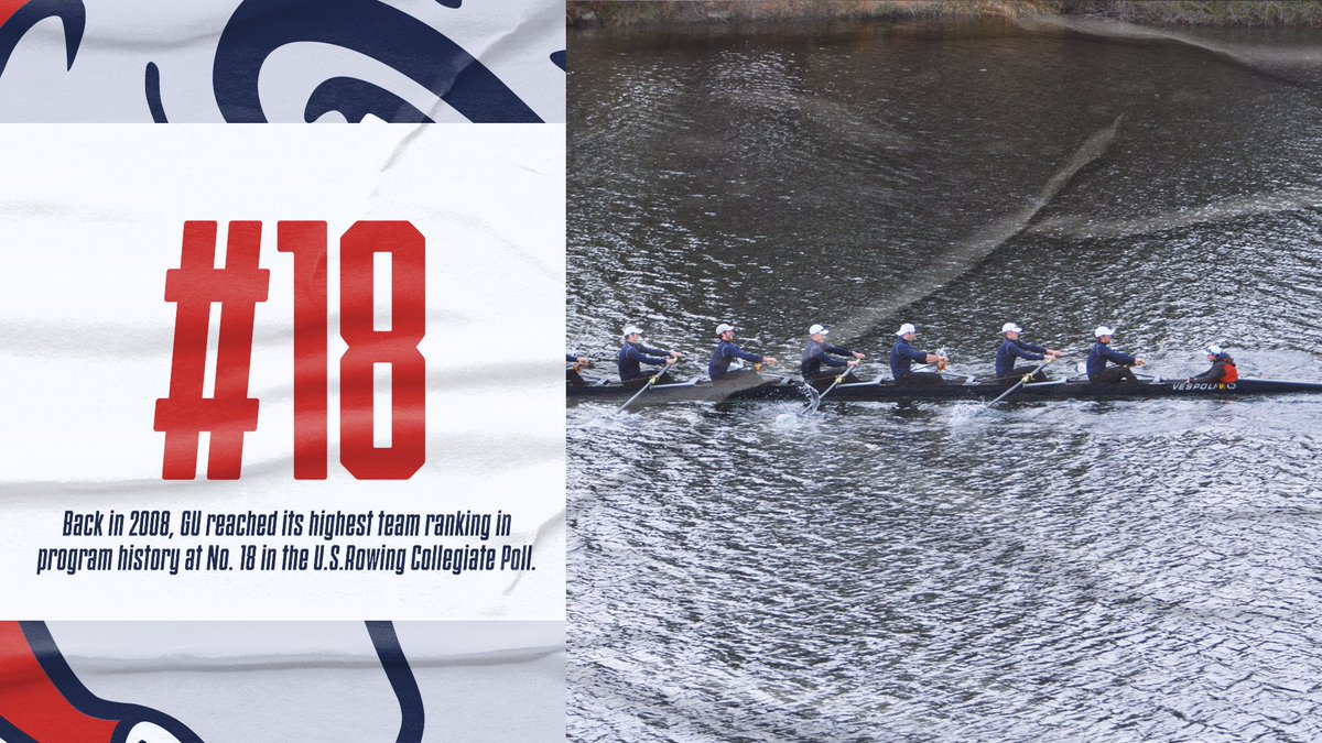 #DYK that we reached our highest ranking in program history back in 2008? We came in at No. 18 in the U.S. Rowing Collegiate Poll that season #keepclimbing #UnitedWeZag https://t.co/hrtBGDTZIH