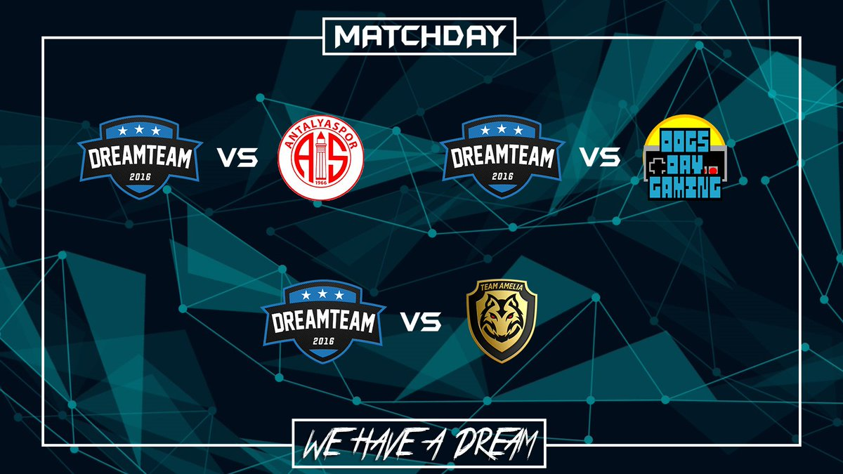 Matchday:  | @VPGeCL  | @esporantalyasp1  | 23:05  | @VPGChampNorth  | @DogsDayGaming  | 22:00  | @VPG_Italy  | @FalconsVPC  | 22:45  #WeHaveADream #GoDreamers pic.twitter.com/YT1ypmqRHZ