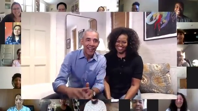 If we want an equitable future, we have to engage in civic life today. Last week, @MichelleObama and @BarackObama surprised some high school students during a @CPSCivicLife virtual town hall and discussed the importance of staying engaged in our democracy during this crisis. https://t.co/kmsk1ourpD
