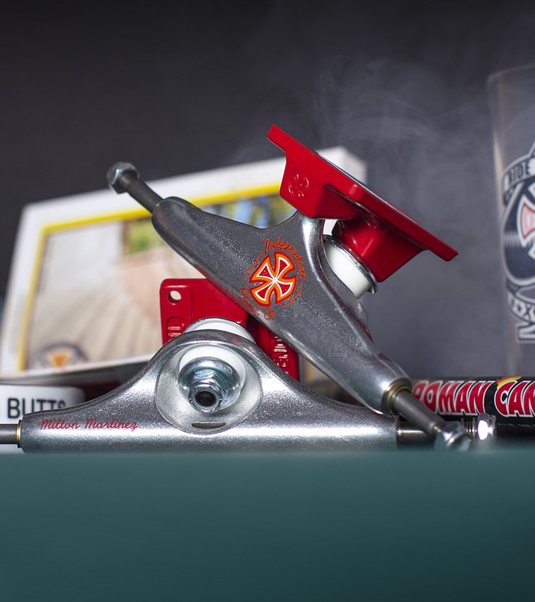 Independent Trucks is proud to release the latest colorway in the Milton Martinez signature truck line. Milton's Pro truck is available in 139, 144, 149, & 159. Available at your local skateshop! 🔥  https://t.co/BZVeWiEkuv https://t.co/xHPuPScjZk