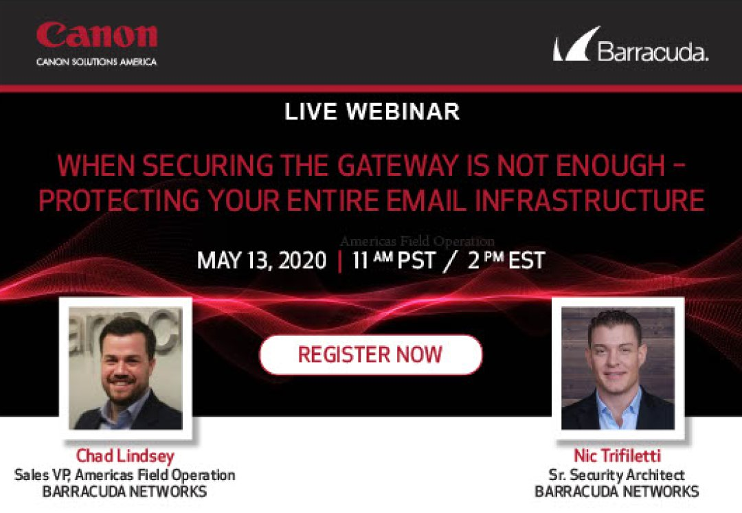🚨REMINDER🚨: If you can't make it on this afternoon, when you register you'll be able to access the webinar both LIVE and on-demand! #CanonSolutionsAmerica