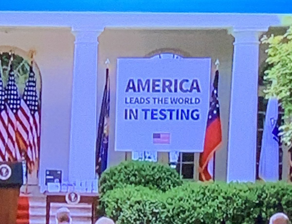 big fucking trump lie - we r 18th in the world #trumpLIES #TestAndTrace
