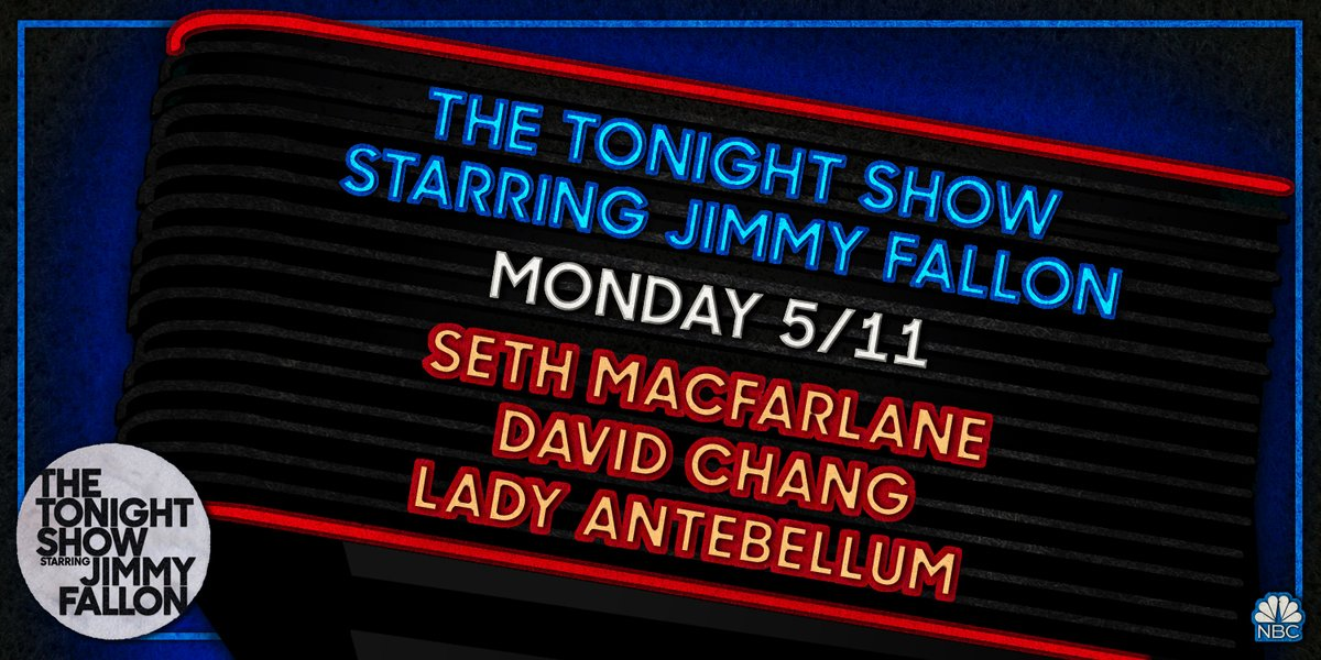 This week of #FallonAtHome kicks off with @SethMacFarlane, @davidchang, and a performance from @ladyantebellum!