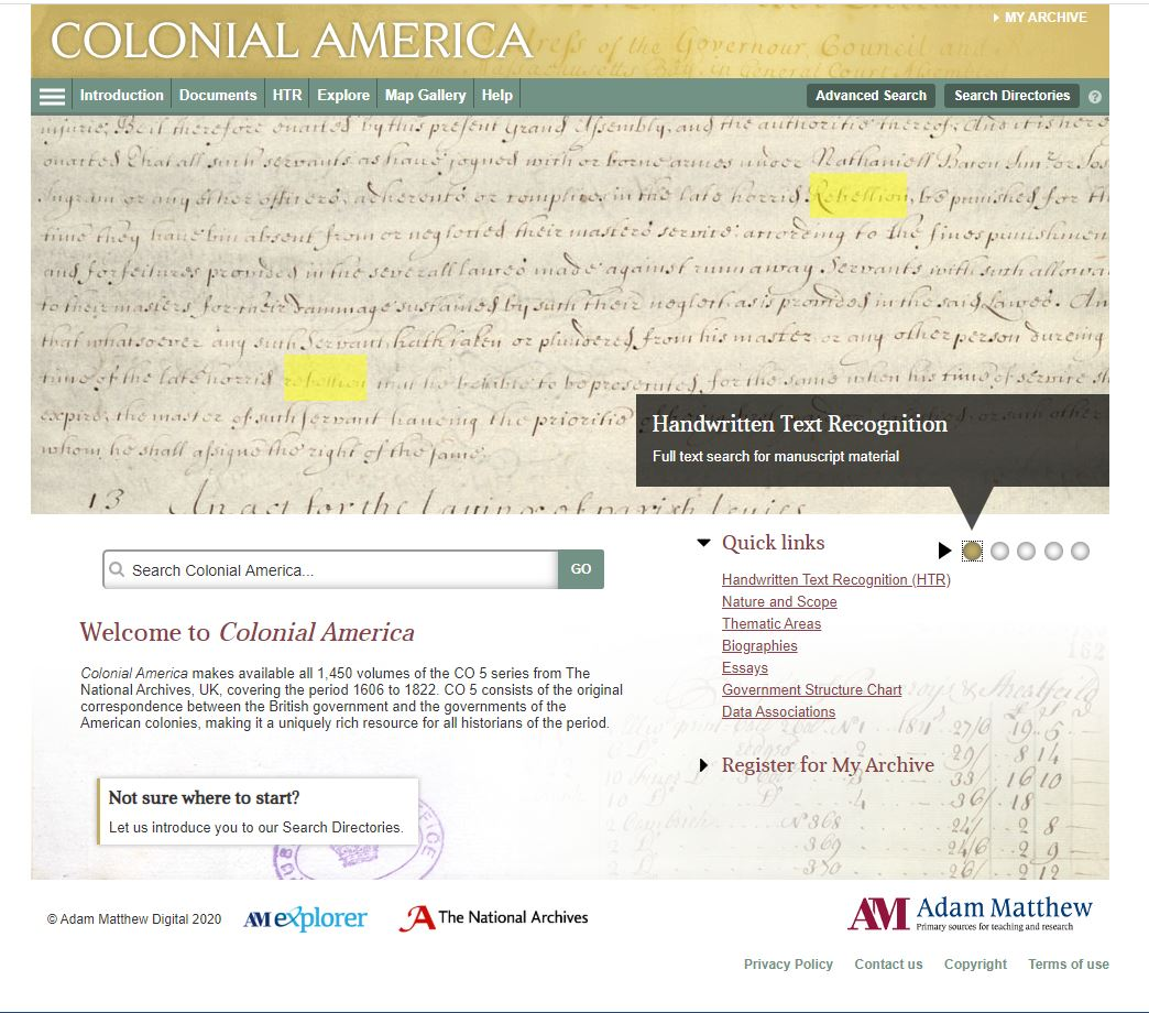Hey #twitterstorians and #vastearlyamerica  Adam Matthew is offering free 12 week trials for individuals to access their amazing digital collections. I just signed up for Colonial America (basically all of CO/5) and American West. Awesome stuff!  Link below! https://t.co/hjhMbbQlmg