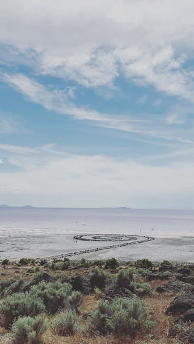a friend went to see spiral jetty today & sent me this photo