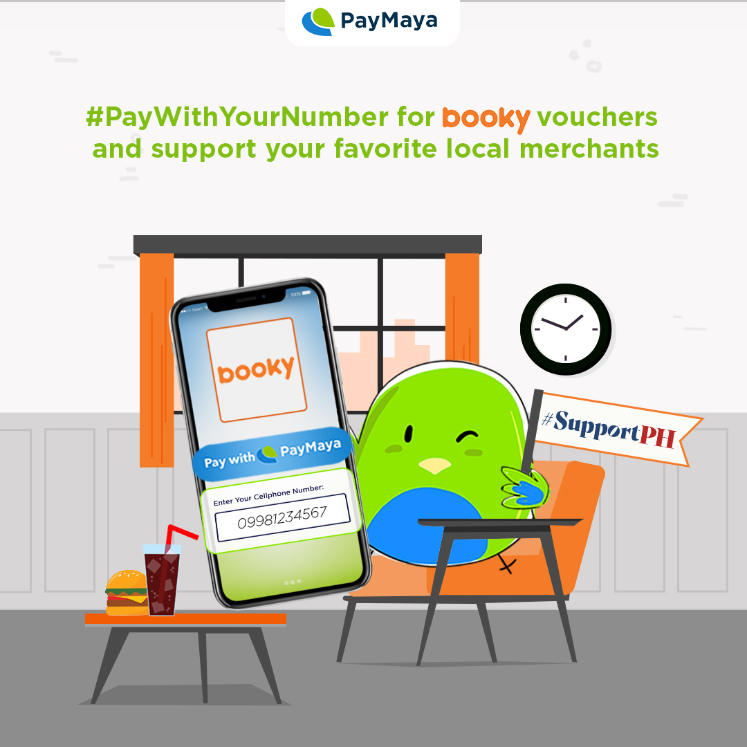 Making plans with friends after ECQ? Get discounted vouchers from Booky!  Don't forget to checkout using PayMaya! Just #PayWithYourNumber and #SupportPH merchants.  *No membership needed. Vouchers will be valid for 3 months after businesses reopen. Visit