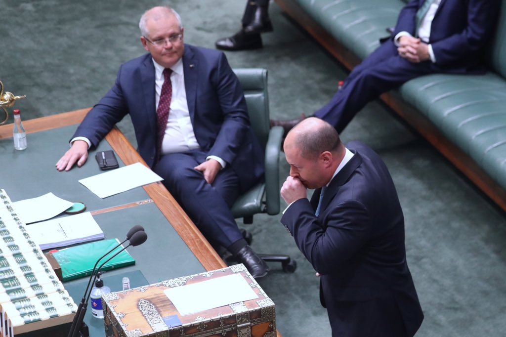 """Treasurer Josh Frydenberg has been sent home and is being tested for Covid 19 after his coughing fit in Parliament this morning, """"out of an abundance of caution it is prudent I be tested for covid 19"""" @AmyRemeikis @GuardianAus #politicslive"""
