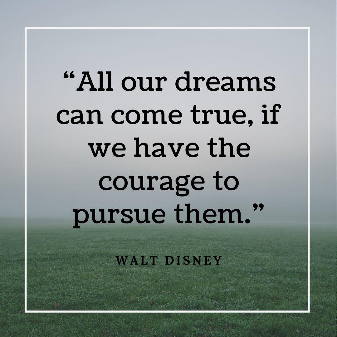 """All our dreams can come true, if we have the courage to pursue them."" - Walt Disney  #BusinessMotivation #CEOquotes #Dreams #WaltDisney #Couragepic.twitter.com/DGKt7qu6pB"