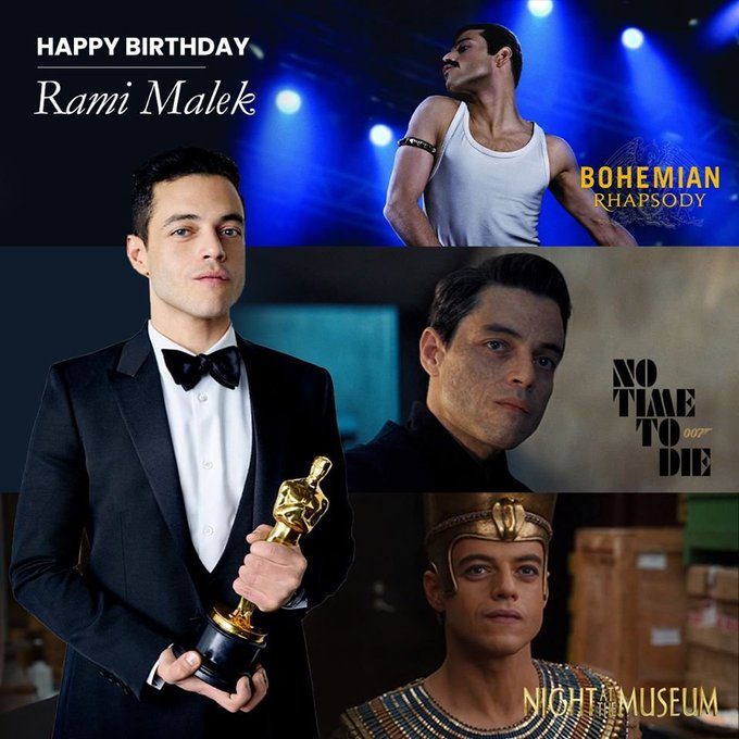 Happy Birthday to Rami Malek! Can\t wait to see his role as a Bond Villain in