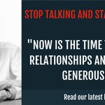 Image for the Tweet beginning: It's time to stop talking