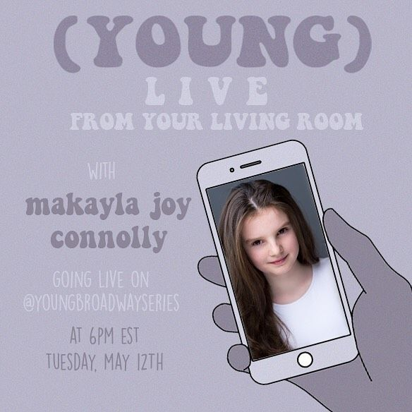 TODAY: #CursedChildNYC kid Makayla Joy Connolly will go live on (YOUNG)'s Instagram account!