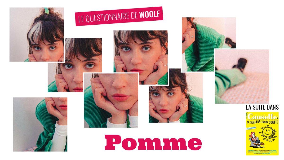 """💫La chanteuse @Pommeofficial cartonne depuis la sortie de son second opus, """"Les Failles"""". Un album aussi beau et mélancolique qu'engagé, qui lui a valu une victoire de la musique dans la catégorie « révélation ». Elle répond ce mois-ci à notre Questionnaire de Woolf ! https://t.co/pZNKyD8soB"""