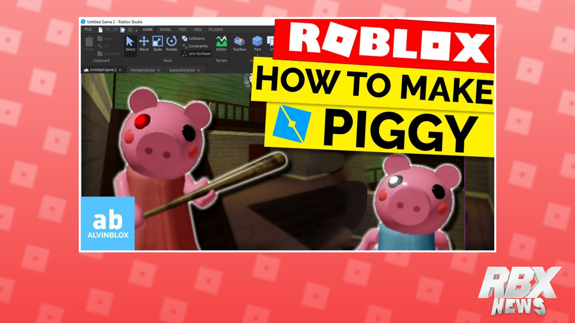 Roblox Piggy Game Icon Rbxnews On Twitter Want To Make Your Very Own Roblox Piggy Game Well Alvinblox Has A Tutorial On How To Do So He Ll Teach You How To Make Script And Setup