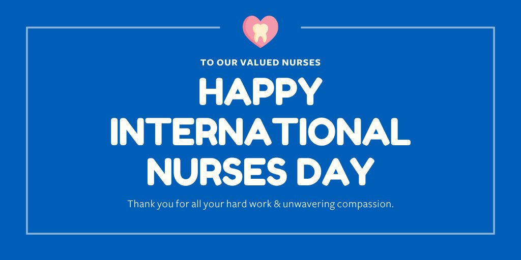 Happy International Nurses Day!  This year, it is more important than ever, that we praise our nurses who are working for us all throughout this pandemic.  Today, and everyday, we thank you!  #wearerodericks #rodericksgoesblue #internationalnursesday https://t.co/KdQkp9gQQa