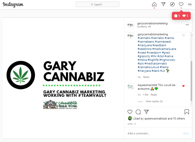 If you're in the #cannabiz world I'd love to connect on Instagram -  https://www. instagram.com/garycannabizma rketing/  …    #cannabis #cannabismarketing <br>http://pic.twitter.com/DzlTK7N78Z