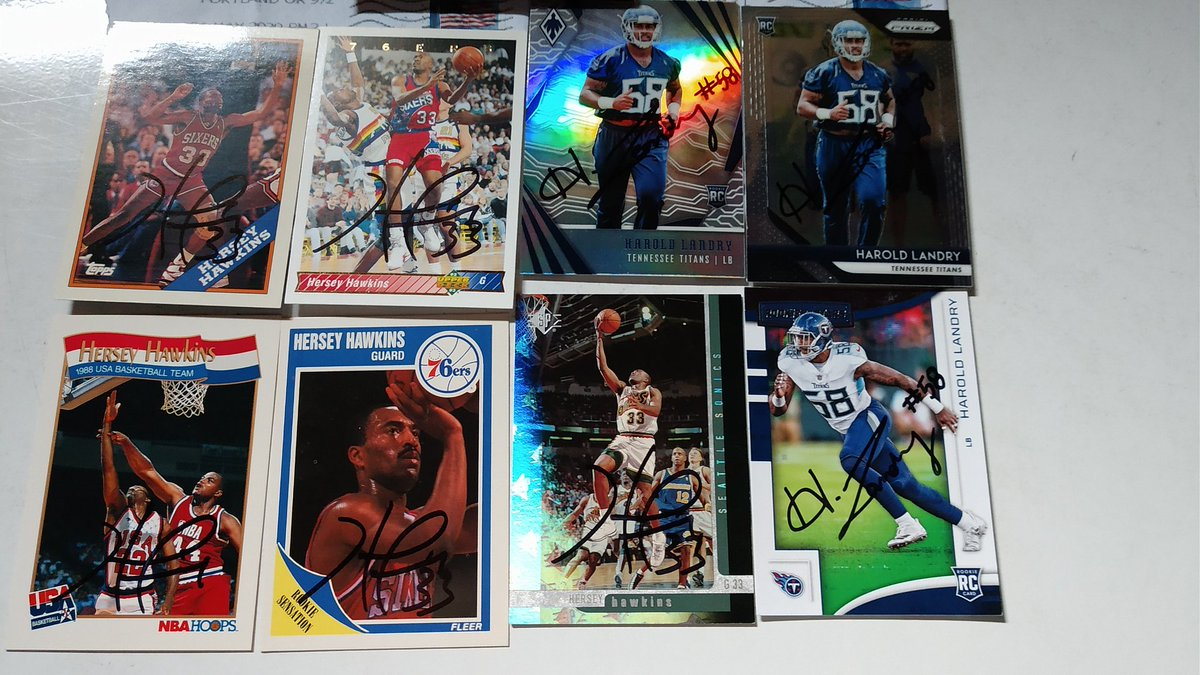 Mailday from Titans Star Harold Landry, Hersey Hawkins and Joe Theismann https://t.co/yDz3y2NYAk