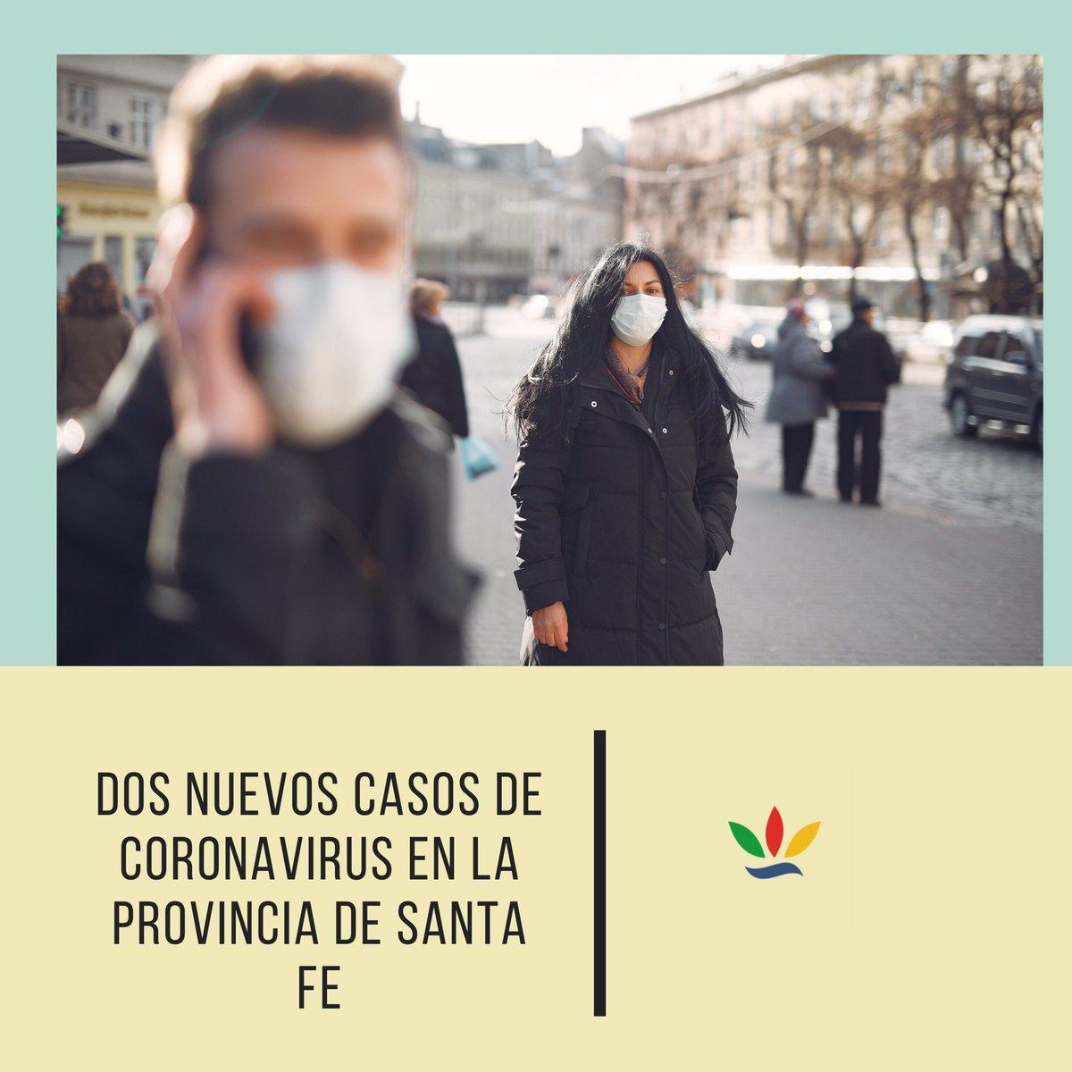 #Covid19 #SantaFe desde el Min de Salud de la provincia informaron q ambos son pacientes con domicilio en la ciudad de Rosario. Uno reside en la localidad del sur provincial y tuvo en contacto con un caso positivo. Mientras q el otro se encuentra en estudio en la ciudad de #BsAs pic.twitter.com/6ksWzbmUdf