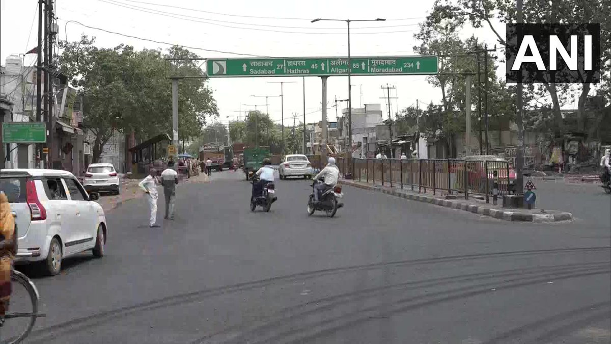Agra: Maximum temperature of 46.7°C was recorded in the district yesterday (26th May 2020) as per India Meteorological Department (IMD) data. (Earlier visuals)