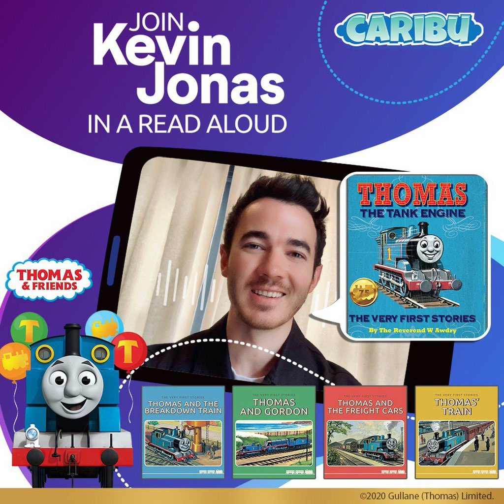 Had a blast reading these Thomas the Tank Engine™ stories in the @caribu app! What a way to celebrate Thomas & Friends' 75th Anniversary. 🎈🚂 A compilation of all four read alouds has been added to the Videos tab. Download #CaribuApp for FREE and enjoy! https://t.co/3vrDVSmyJj https://t.co/eqqTNg0I3n