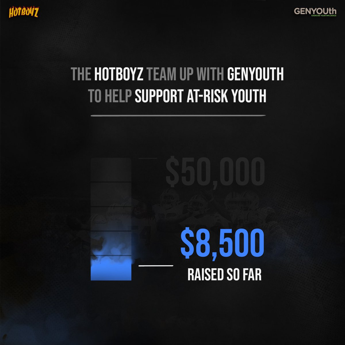 Our second installment of @HotBoyzTM support fund supporting @GENYOUthNow is up to $8500!! Our goal is $50k ! Visit https://t.co/BPVWGZDpjm to support & help us reach our goal & helping feed thousands of kids!! There are still some great things to bid on!! Check it! 🙏🏾 https://t.co/xLOoSN1JgH