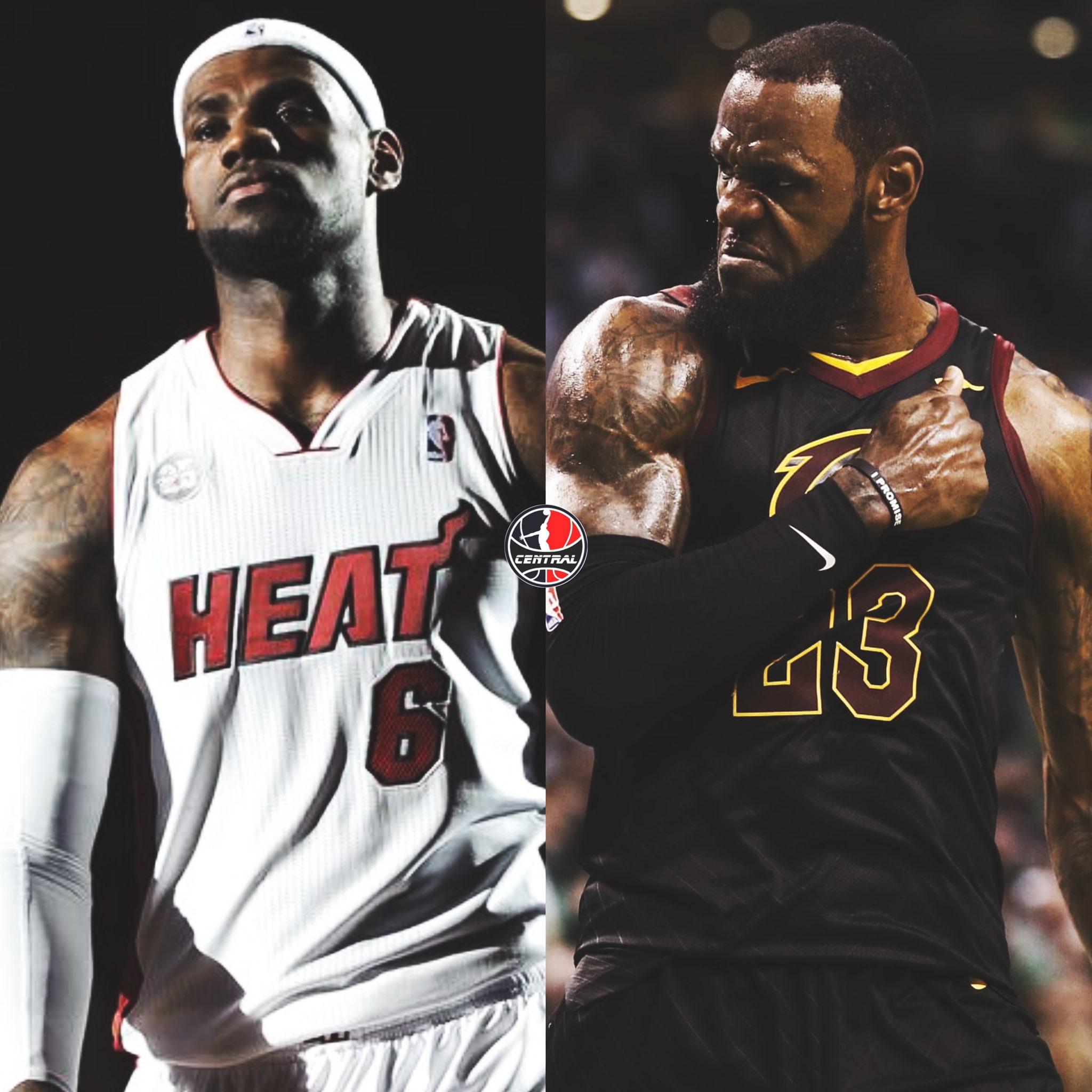 13年詹姆斯和18年詹姆斯,美媒曬圖並發問:誰是更好的球員?-黑特籃球-NBA新聞影音圖片分享社區