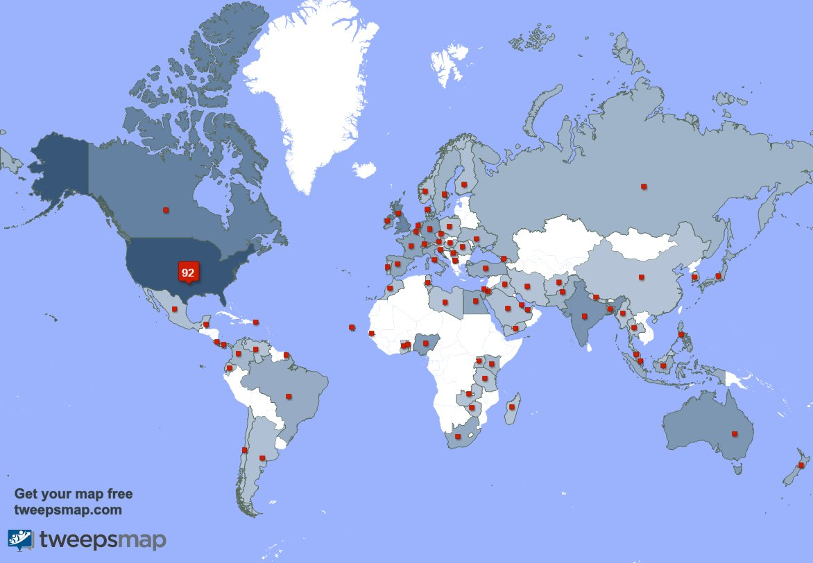 I have 102 new followers from USA, and more yesterday. See tweepsmap.com/!Vangie4Congre…