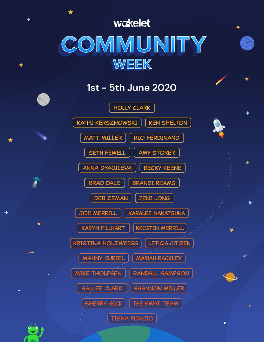 I cant wait for Wakelet Community Week! We have so many great speakers and sessions taking place! 😱 We also have some competitions planned with some amazing prizes 👀 Join us for a week of virtual fun - community.wakelet.com/communityweek/
