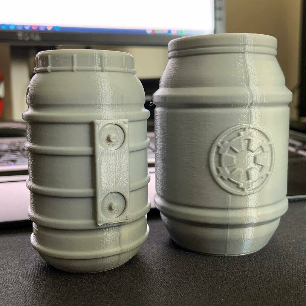 Testing out a couple of the new @figureworks.co barrels on @thingiverse both #3dprinted on @josefprusa #mk2s