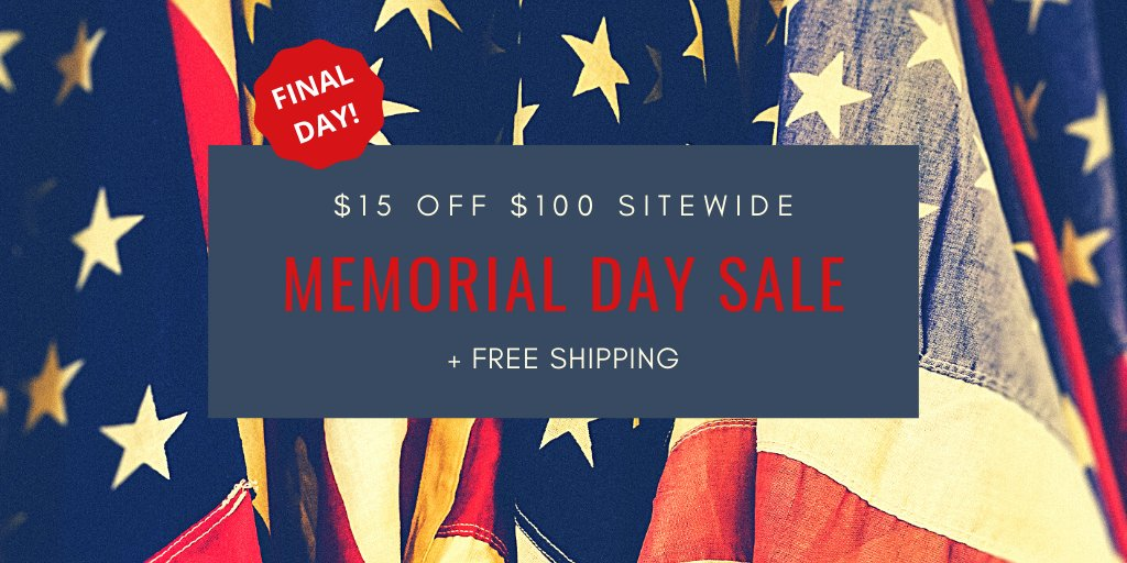 Last day to save!  Memorial Day Sale   Save $15 on $100 auto part purchase sitewide. Use code MEMORIAL15 at checkout at http://www.SixityAuto.com  #autoparts #CarCare #DIYmechanicpic.twitter.com/G1pjpu2js9