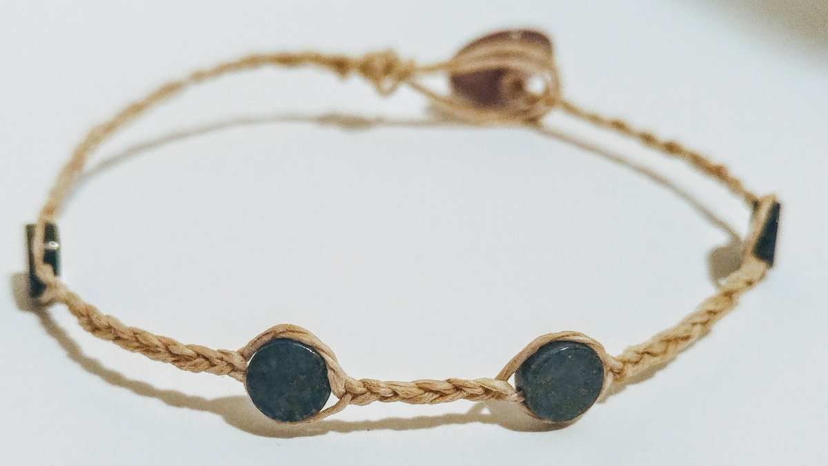 """Give yourself or friend a meaningful #gift of wearable lapis lazuli - 7 1/4"""" hand-braided #hemp #bracelet  Find it in my #etsyshop . . ."""