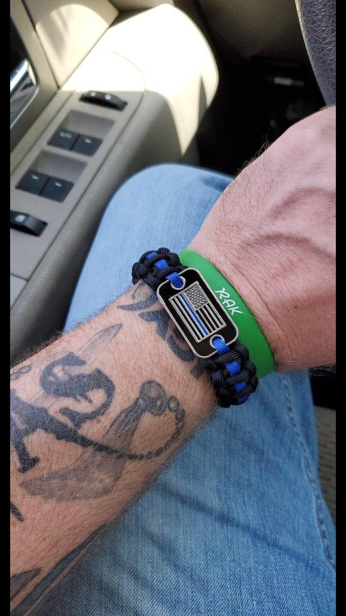 Thank you Greg #BackTheBlue #ThinBlueLine #bracelet
