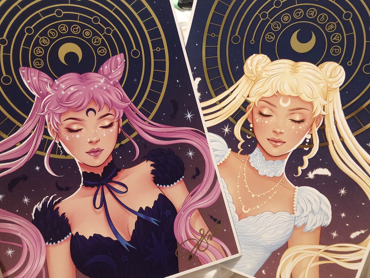 Today I received @heyjenbartel artwork that I've been anxiously waiting for, I can't even put into words how beautiful these pieces are. I'm in awe just looking at them in my hands!! 😭💘🌙 thank you so much. Your work is amazing and inspiring. #yaywomen
