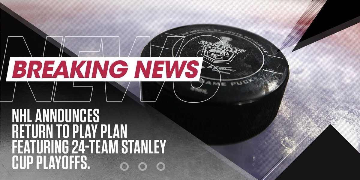 BREAKING:   The @NHL has announced a Return to Play Plan for the 2019-20 NHL Season. https://t.co/9DX6Vt3mDE