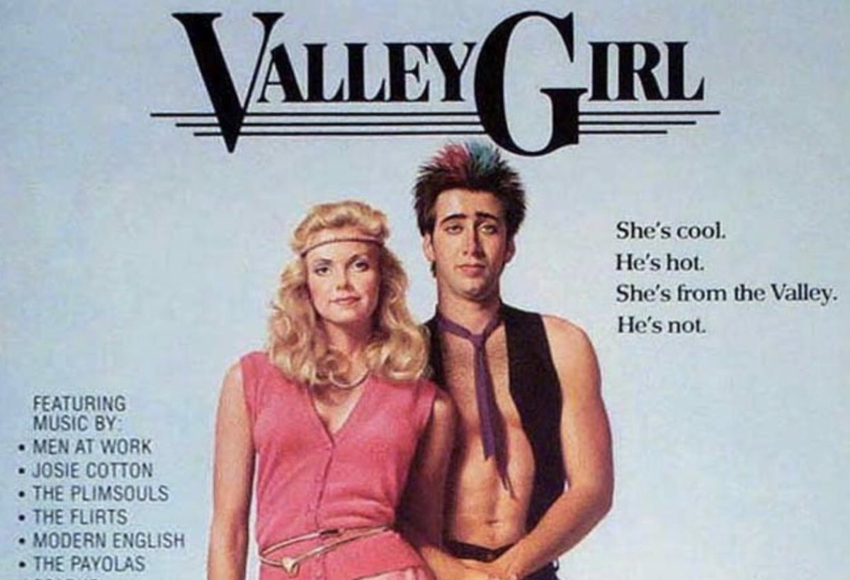 """On a Scale of 1-10  1 Being Horrible & 10 Being Perfect What Would You Rate the Movie """"Valley Girl?"""" (1983)  #ValleyGirl #Movies #Film #Cinema #NicolasCage #DeborahForeman #SanFernandoValley #Hollywood #CA #1980s #80s #80sThen80sNowpic.twitter.com/rhUAFxm32r"""