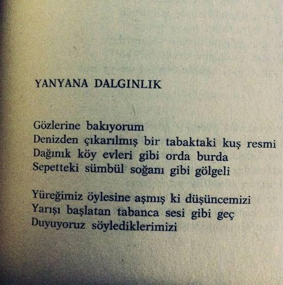 """""""Gözlerine bakıyorum"""" #melihCevdetAnday #şair #şiir https://t.co/PGbNPkKpqv"""