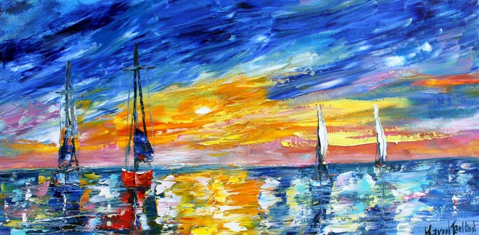 'Sunset Water and Sky' by Karen Tarlton #art pic.twitter.com/4TOrdBPkBr