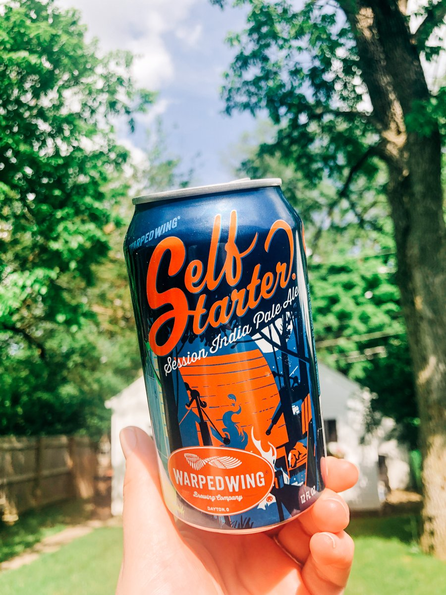 90 degree weather calls for a cool down with something sessionable... #SelfStarter #SessionIPA ought to do the trick! Hope everyone has a chance to get outside and enjoy some of this gorgeous weather today. #warpedwing #staywarped #shareapintmakeafriend #dayton #ohiocraftbeerpic.twitter.com/x1HNmgzEAz