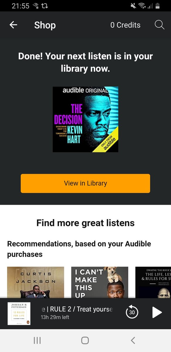 @KevinHart4real @audible_com You will be accompanying me on my evening walks. I look forward to the journey. https://t.co/9ImvxcJdtc