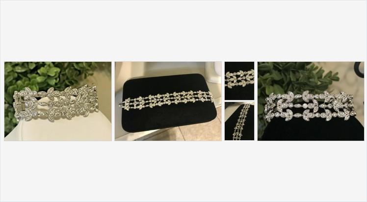 Vintage Signed N Rhinestone Silver Plated Bracelet Beautiful Rhinestone Bracelet | eBay #bracelet #vintagejewelry #costumejewelry #vintagecostumejewelry
